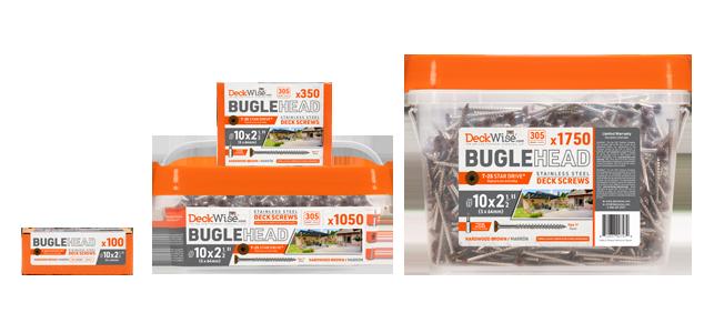 #10 painted Bugle-Head deck building screws