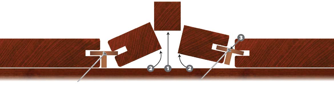 deckwise hardwood fastener clip board replacement - step 2