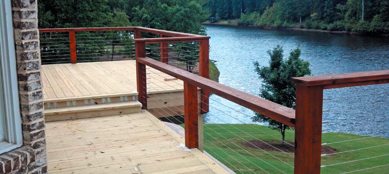 deck cable railing stainless steel railing system. Black Bedroom Furniture Sets. Home Design Ideas