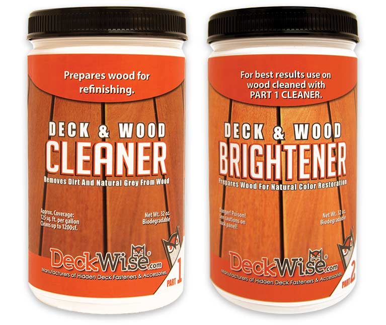 wood deckc cleaner and brightener 32 oz.