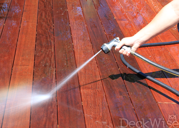 DeckWise Cleaner and Brightener application step 2