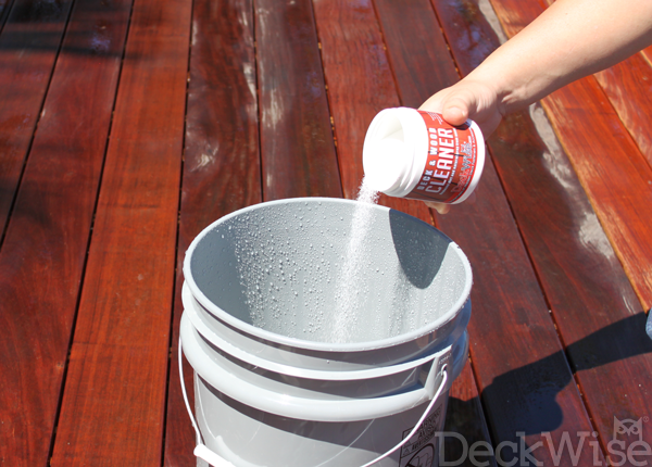 DeckWise Cleaner and Brightener application step 3