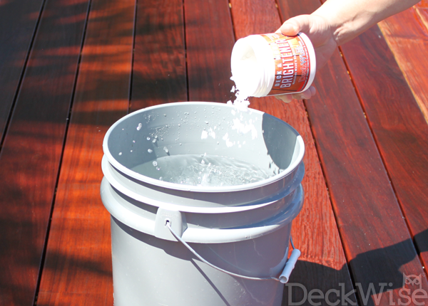DeckWise Cleaner and Brightener application step 5