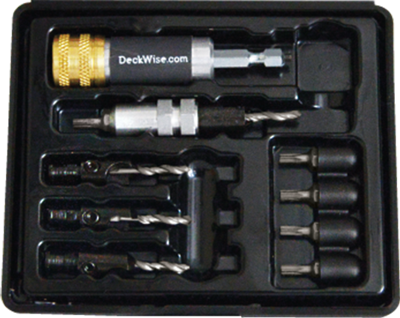 Drill and Drive tool kit case opened