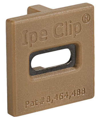 deckwise extreme4 hardwood clip brown - front view