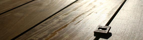 Gap spacing of deck boards