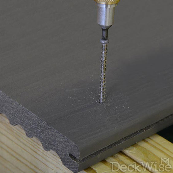 Composite Screw being driven into composite board