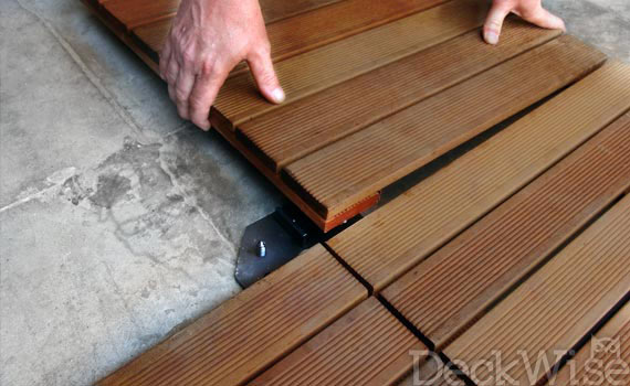 Process of Installing Deck Tiles