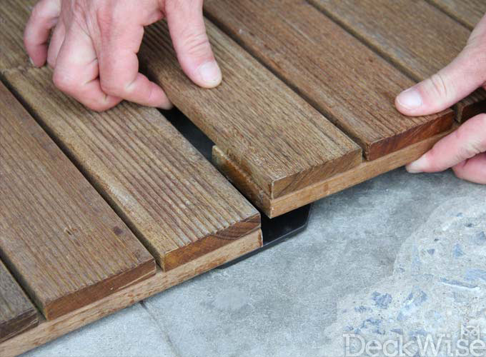 Connecting Hardwood Deck Tiles