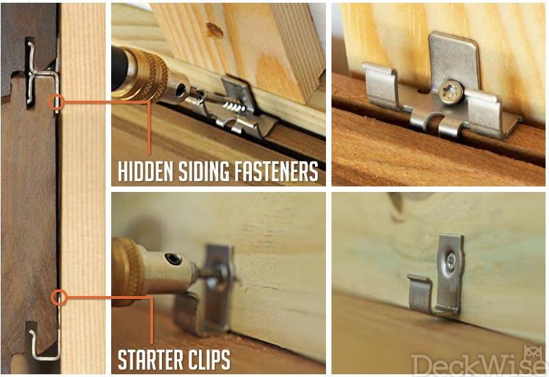 Rainscreen Stainless Hidden Siding Fastener Clips Deckwise