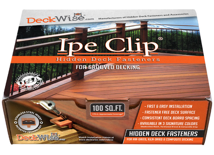 Ipe Clip Hidden Deck Fasteners Kit from DeckWise