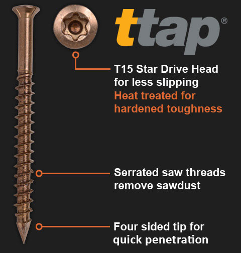 Self Drilling Screws with Ttap
