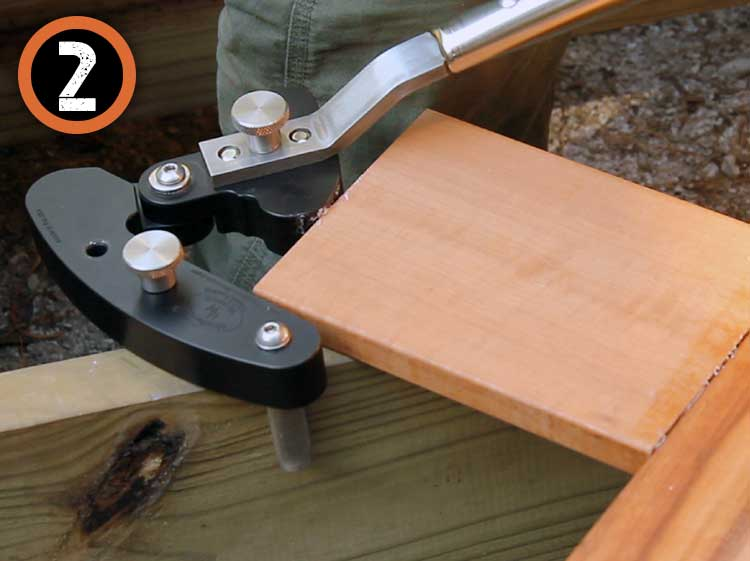One Man Deck Board Straightening Tool