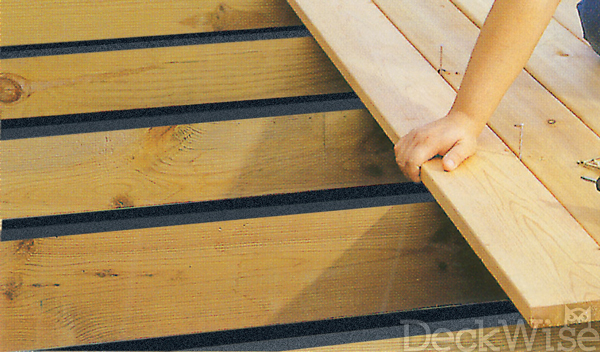Deck Joist Barrier Tape Prevents Exotic Wood Rot Deckwise