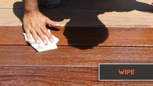 wipe excess ipe oil from decking