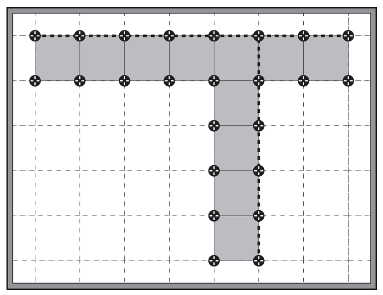 Altitudes Pedestal® T grid layout