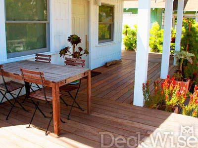 hardwood deck porch