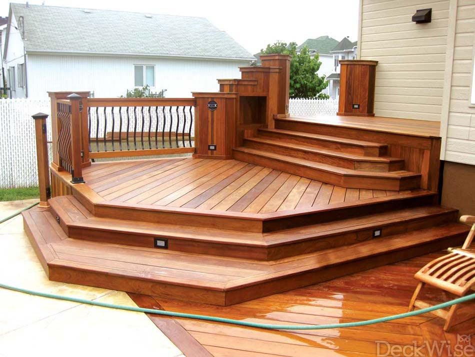 Ipe seal end grain sealant prevents checking deckwise for Exterior hardwood decking