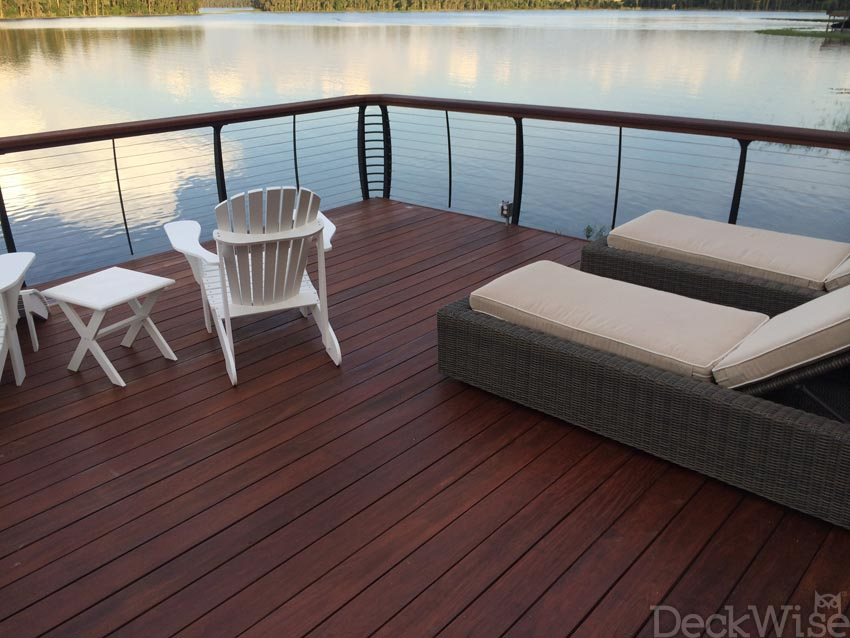 decks with Ipe Oil application