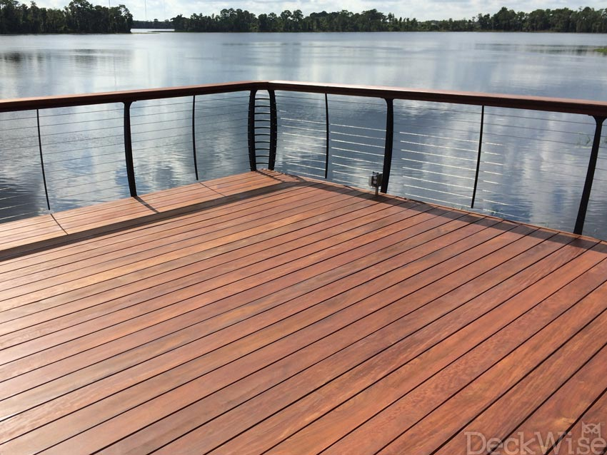 deck with Ipe Oil Hardwood Deck Finish