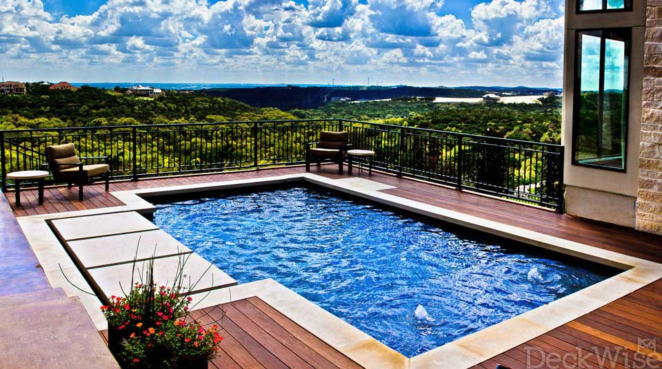 Plank Pool Deck : View our beautiful ipe hardwood deck build photo gallery