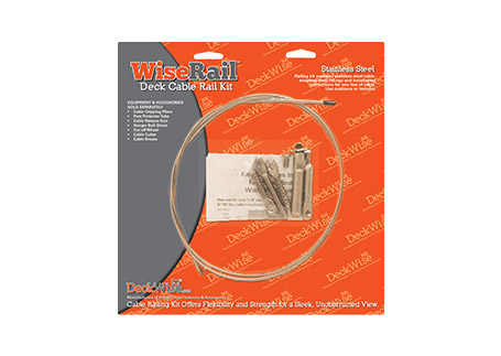 DeckWise® WiseRail® Deck Cable Railing