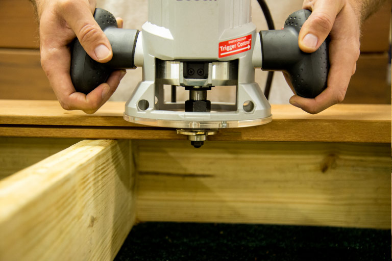 Router bit edge slot cutter groove deck boards deckwise