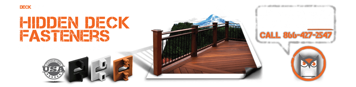 DeckWise manufacturers of Hidden Deck Fasteners and accessories