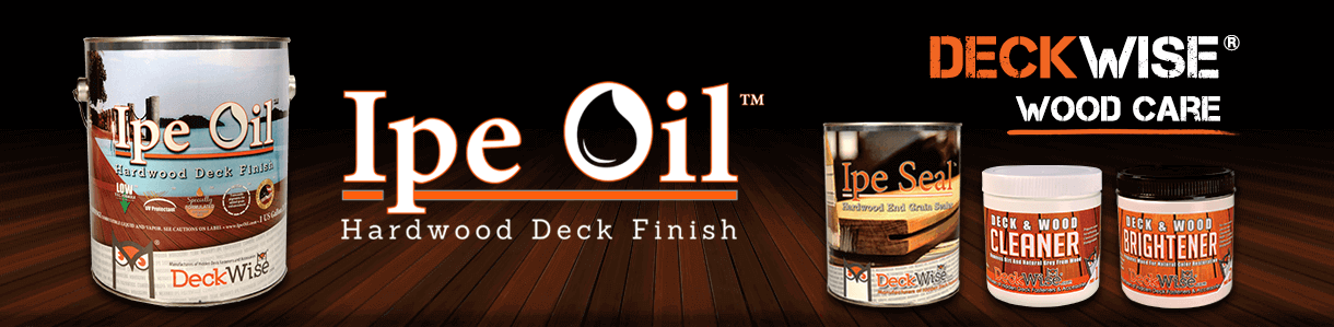 DeckWise Ipe Oil Hardwood Deck Finish for exotic decking
