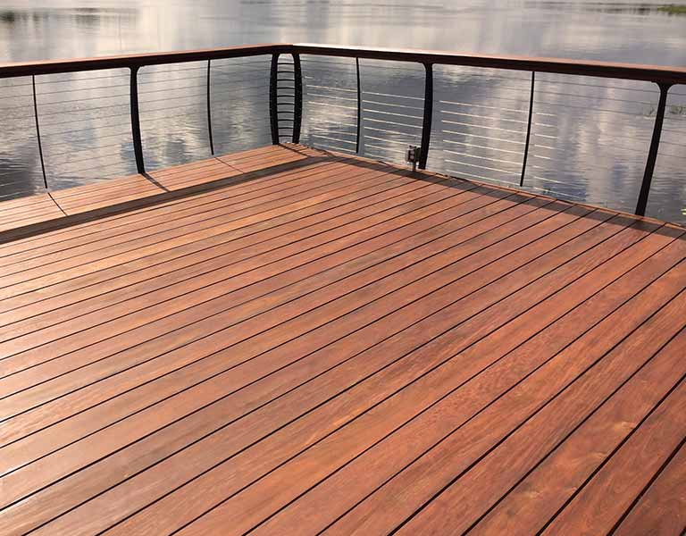 Hardwood deck finished with Ipe Oil