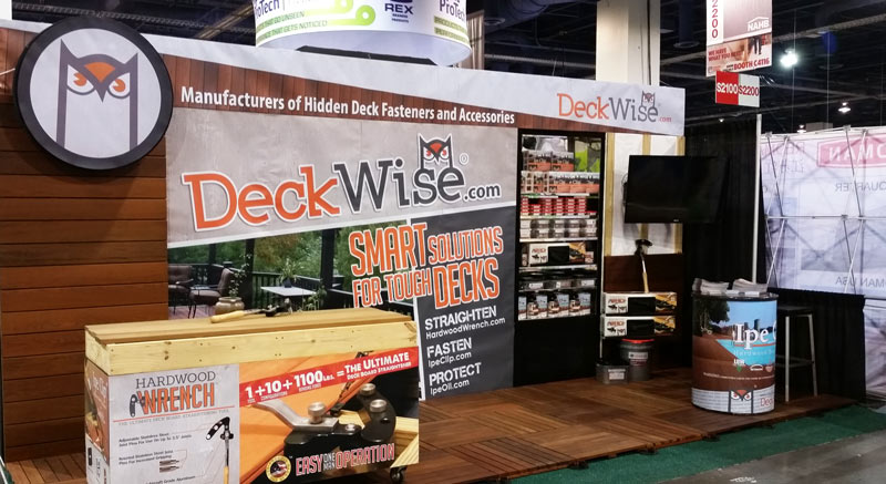 deckwise tradeshow booth