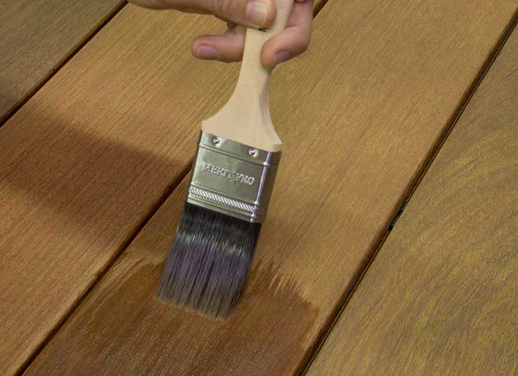 Applying Ipe Oil Hardwood Deck Finish