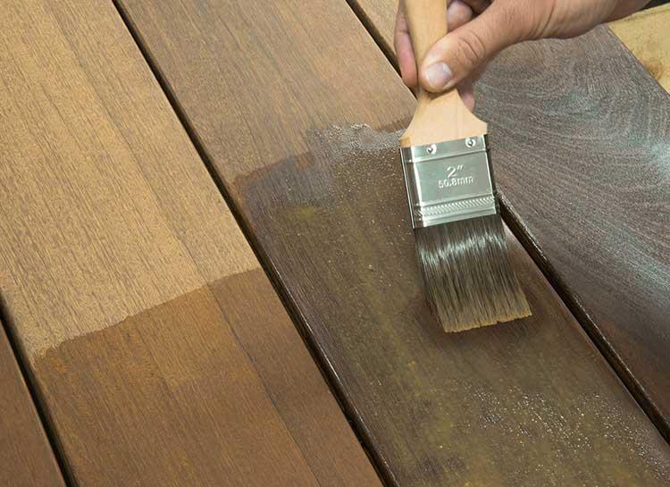 Ipe Oil Hardwood Deck Finish application process